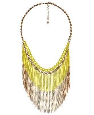 Yellow rain necklace - Forever 21