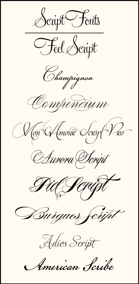 Wedding fonts have become so varied over the years.  There used to be a few mainstays that were widely used, but with the development of so...