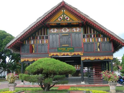 Rumoh Aceh (Aceh traditional house) - Aceh Province - Sumatera.