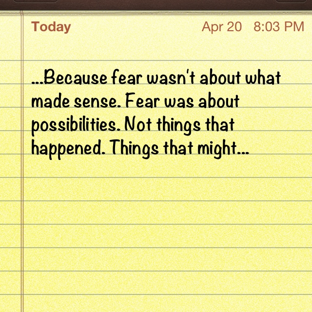 FEAR by Michael Grant- this is seriously the most accurate definition of fear EVER