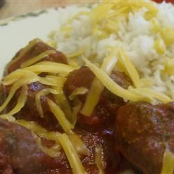 Meatballs Mexicana and Rice Allrecipes.com. Making this and it smells ...