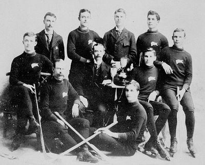The Winnipeg Victorias of the Manitoba Hockey League challenged the Montreal Victorias for the Cup in 1896