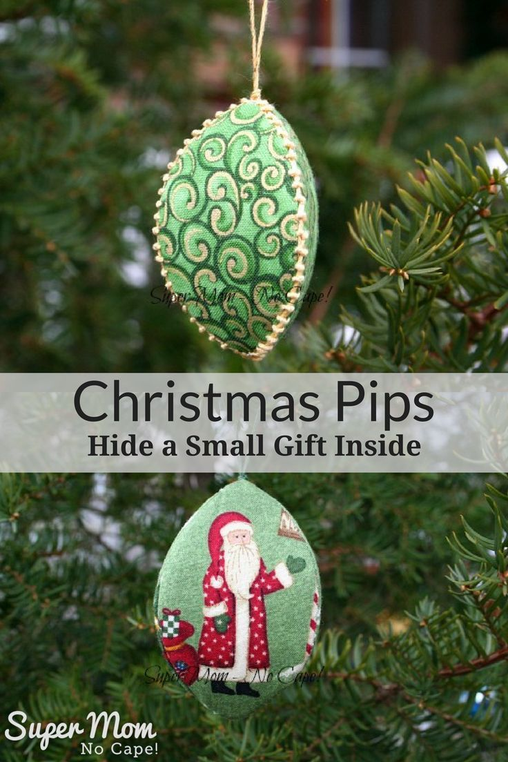 Christmas Pips are the perfect way to wrap small gifts! Hide them in plain sight on the tree. Link to complete step-by-step tutorial! via @susanflemming