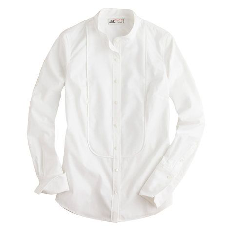 The Best White Shirts To Snap Up Now - Best Tuxedo Style - from InStyle.com