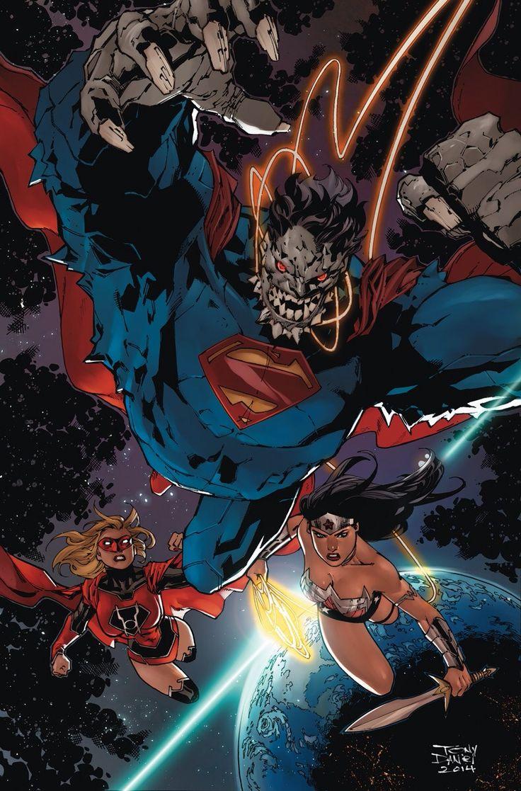 Doomsday Superman, Red Lantern Supergirl & Wonder Woman by Tony Daniel.