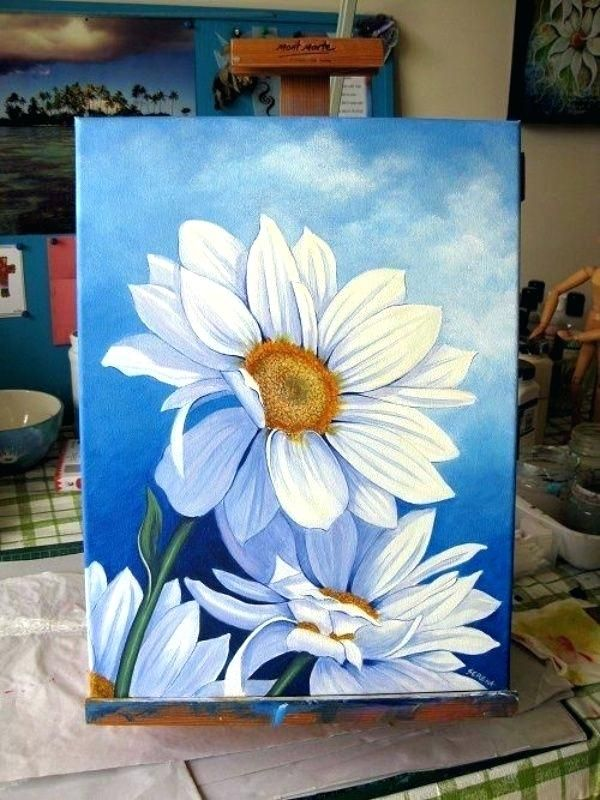 How To Paint Flowers With Acrylic Simple Acrylic Painting Paint