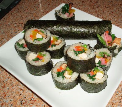 vegan eho maki - good luck sushi
