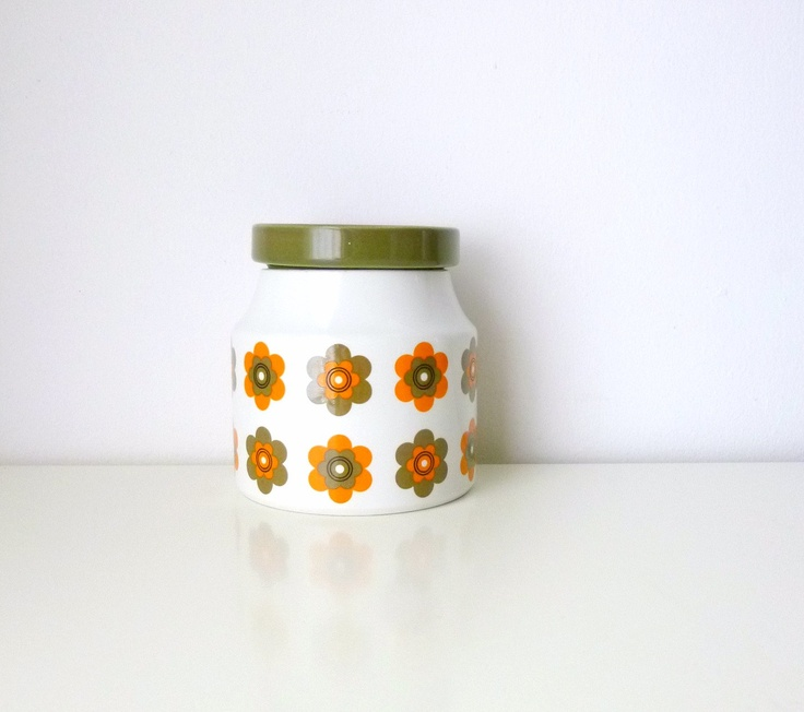 Midwinter Sunglow Storage Jar - I'm lucky enough to have a whole tea set to match, I must blog it!