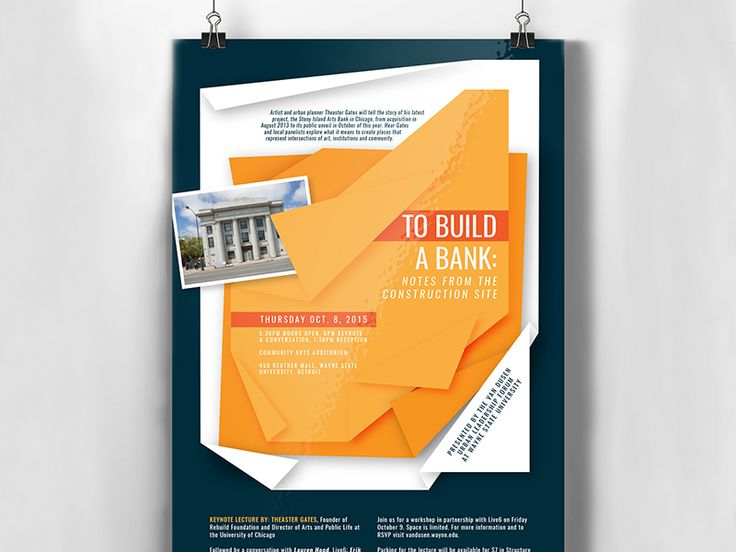 Wayne State University:   We worked with the Wayne State University Office of Economic Development to create promotional materials for a community lecture and workshop series. The eye-catching designs aimed to increase awareness and attendance at the June 2015 events through print materials emails and social media promotions.