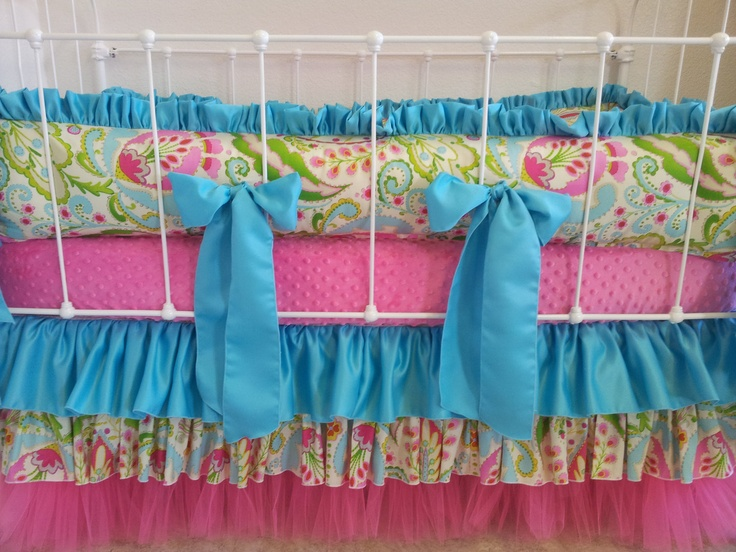 Want this crib bedding (without the big bows) if baby Ridley is a girl!!!