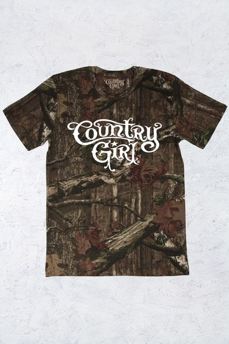 Women's Country Girl® Mossy Oak® Camo Tee | 5.5 oz., Officially Licensed MOSSY OAK 100% ringspun cotton print jersey