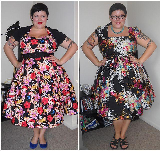 Resultado de imagen de big floral plus size dress