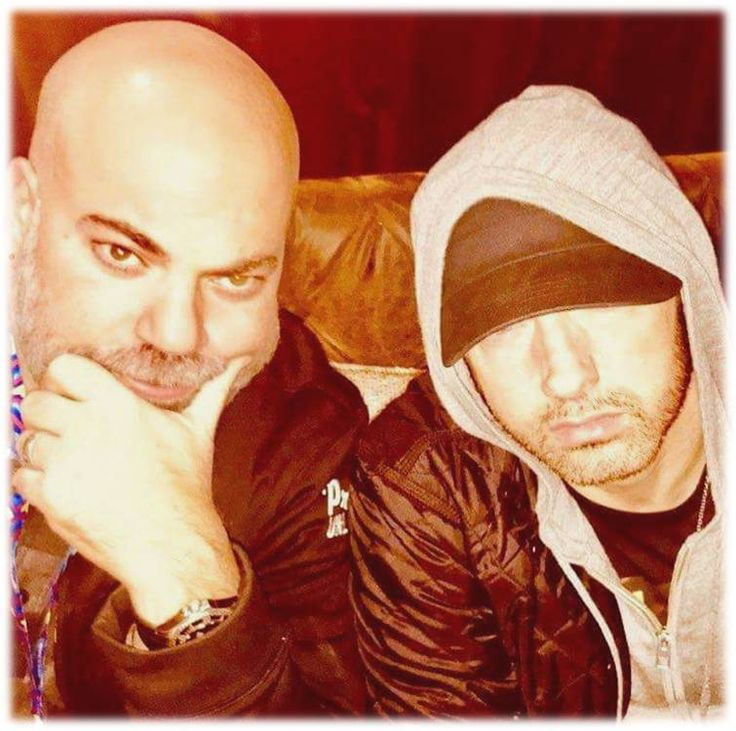 Eminem and Paul Rosenberg backstage MTV EMA's 2017!