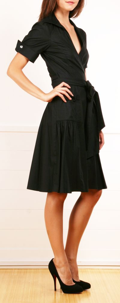 The dress is cute but it's the SHOES I want!!! ('Aria' Wrap Dress)