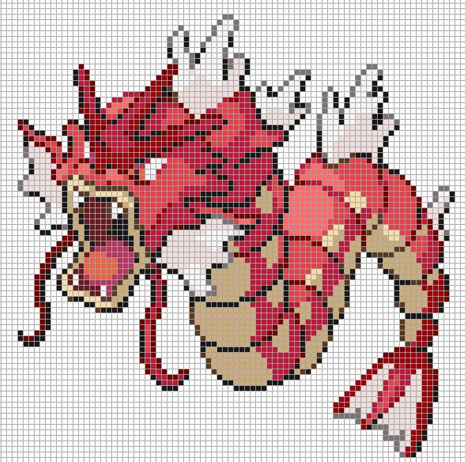 Gyarados Pixel Art Grid by Hama-Girl on DeviantArt