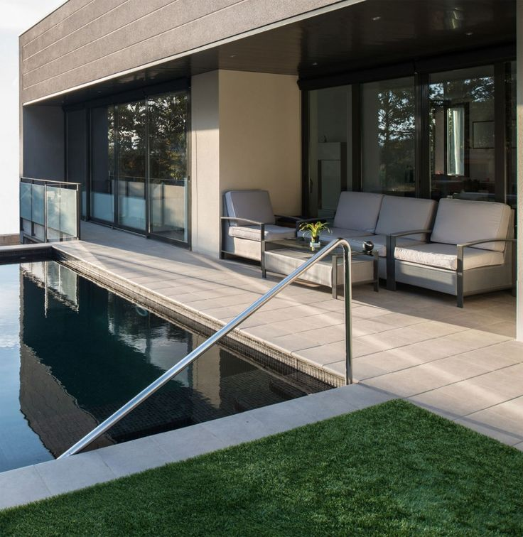 Home Ideas Styles with Black Running Wall  Incredible Outdoor Space Design  In House In Rubi. 738 best Furniture images on Pinterest   Simple house plans  Arch