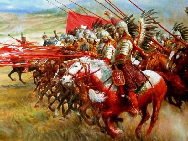 Szarża husarii II -fragment