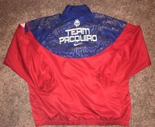 Team Manny Pacquiao Nike Track Jacket Size XXXL Boxing Red White Blue Gold 3X