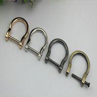 (6 Stks/partij) 19mm (Binnen) Mode Metalen D Gespen DIY Goud, zilver, Zwart pistool, brons D Ringen voor Webbing Tassen Lederen Craft