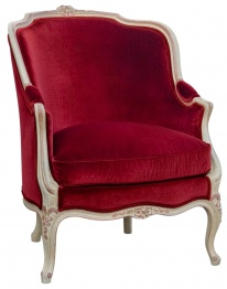 Beautiful Upholstered Bergere: Velvet Chairs, Blood Red, Colors Red, Deep Red, Velvet Seats, Red Armchairs, Red Velvet, Red Chairs, Beautiful Chairs