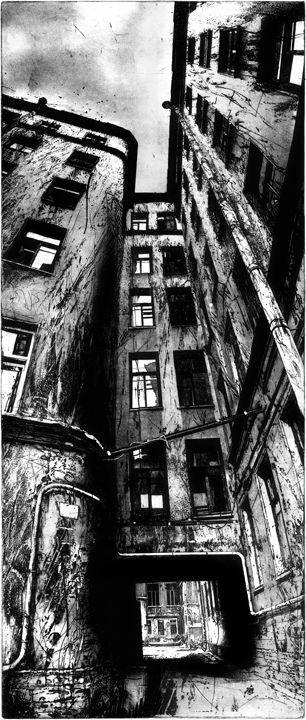 Michael Goro etching | represented by Jennifer Norback Fine Art | info@jennifernorbackfineart.com I 773 671 5945