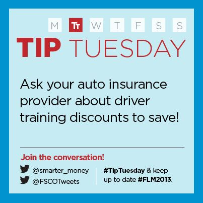 """""""Drivers: Save some money by asking your auto insurance provider about training discounts.""""  - Financial Services Commission of Ontario (FSCO)"""
