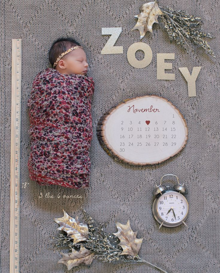 Pillow Thought: Zoey Skye Marlor / Baby Announcement