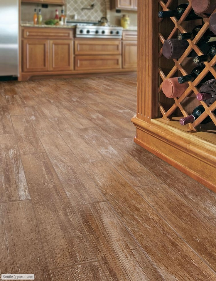 Love the idea of wood-looking tile since we are a dog family and dogs - 35 Best Wood Look Tile Images On Pinterest Homes, Flooring Ideas