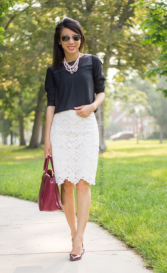 Plus Size Fashion Outfit Ideas,Skirt and Blouse