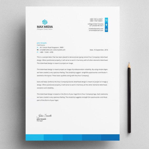 Corporate Letterhead Template: Letterhead #letterhead #template #design #corporate