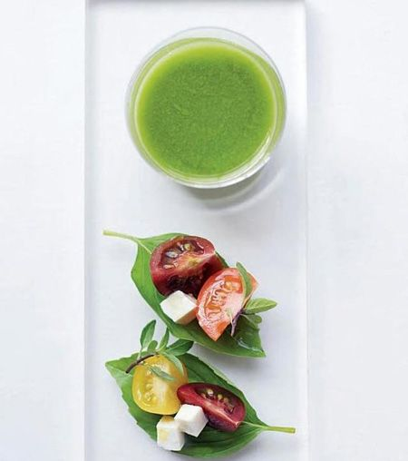 Wedding Hors d'oeuvres - mini soup and salad by Peter Callahan Catering