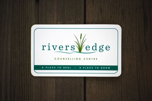 Rivers Edge Counselling Centre - Business Card Design www.kristingibson.ca