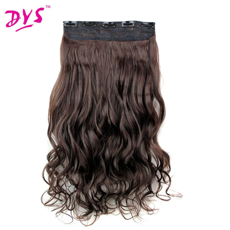 Deyngs 24inch Synthetic Clip in Hair Extensions 5clips in One Piece Long Curly Half Full Head Fake Hair Hairpiece 16 colors