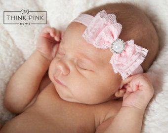 Venda del bebé, venda del recién nacido, diadema de encaje de COLOR elegir, diademas de bebé, recién nacido venda, venda del bebé rosa, diademas de bebé niña.