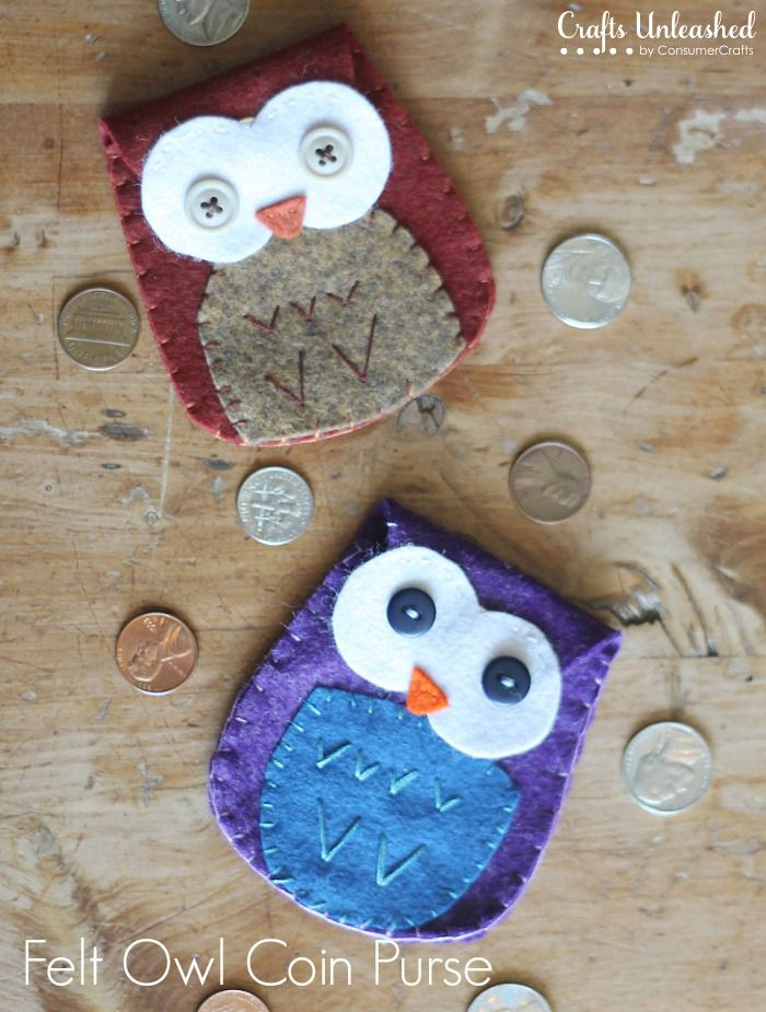 Felt Owl Coin Purse--with free template!!!