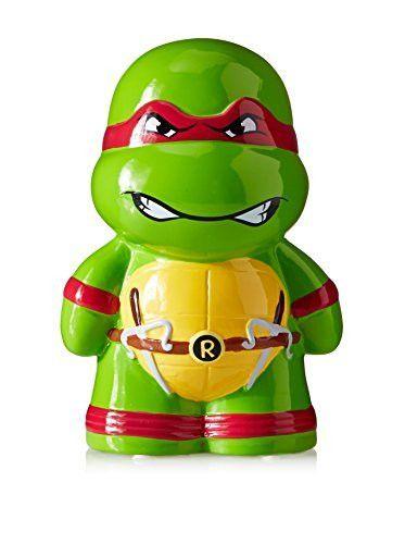 Fab Star Kid's Teenage Mutant Ninja Turtle Raphael Bank, Green