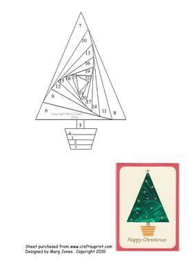 Открытки в технике айрис фолдинг шаблоны и схемы елка