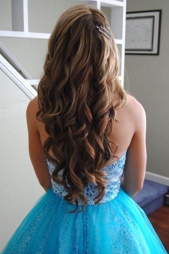 Wavy hair prom hairstyles beautiful curls homecoming hair hair