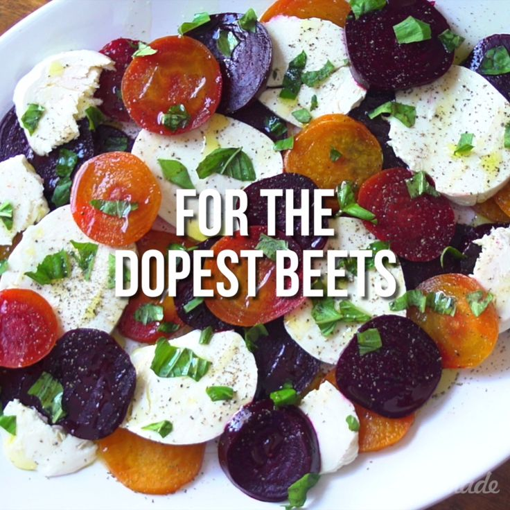 Fact: This is the most colorful caprese ever. Mix up your caprese game and try it with beets - you won't regret it!