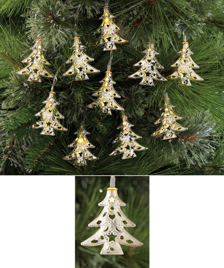Collections Etc Christmas Tree String Lights - 10 Pc ...