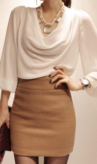 Long puff sleeve chiffon blouse C930…