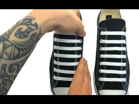 **How to Bar Lace CHUCK TAYLORS** - YouTube