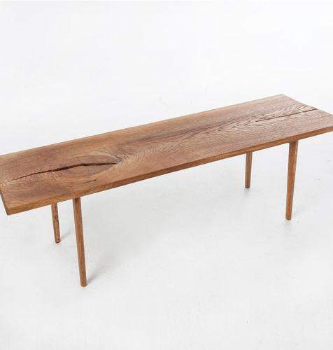 Mesa de centro / de diseño escandinavo / de roble / rectangular agustav