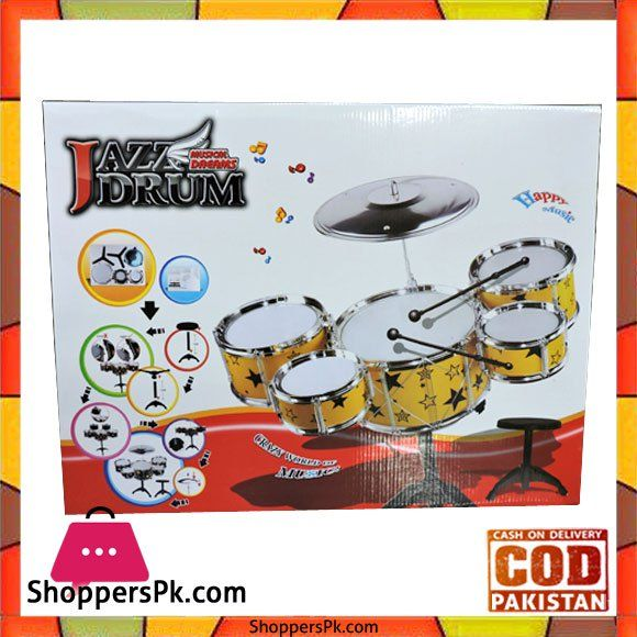 On Sale: Jazz Drum Set For Kid Musical Dream Price Rs. 2300 https://www.shopperspk.com/product/jazz-drum-set-for-kid-musical-dream/