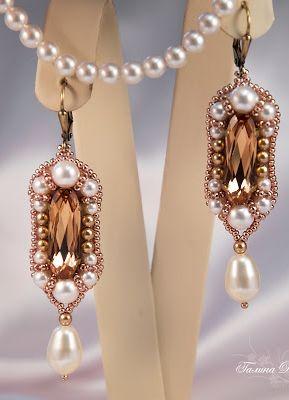 Free Pattern - Beaded Earrings featured in Sova-Enterprises.com Newsletter!