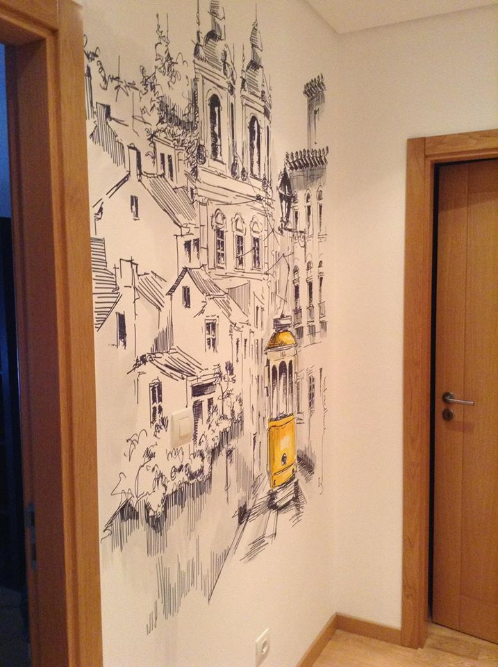 desenho em parede - Odivelas - Lisboa - Portugal, por josealmeida