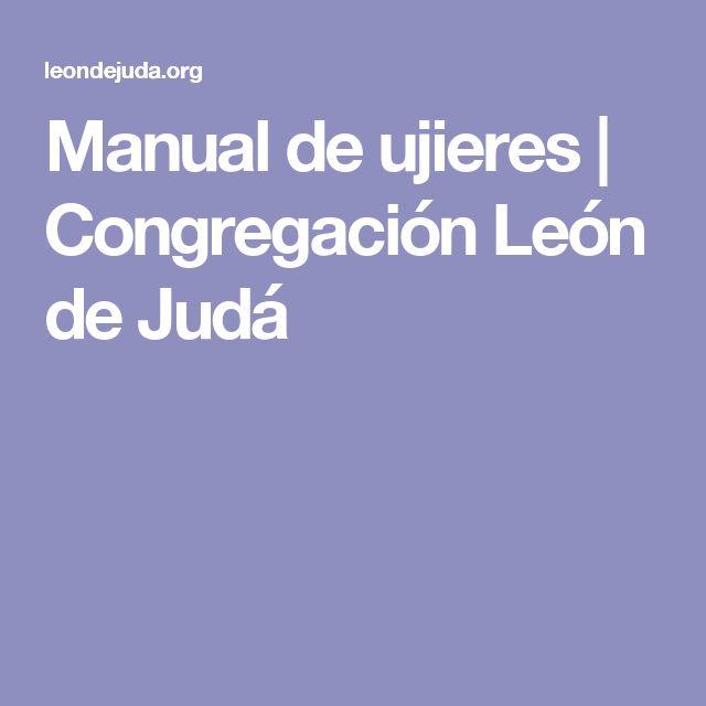 Manual de ujieres   Congregación León de Judá