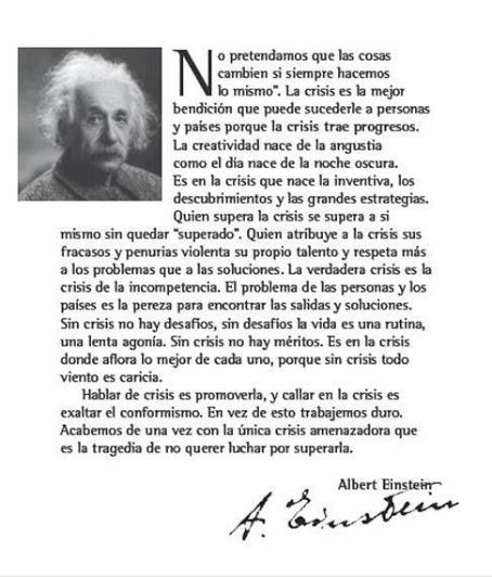 Einstein y su famosa cita