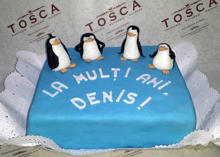 Tort tematic - Pinguinii din Madagascar