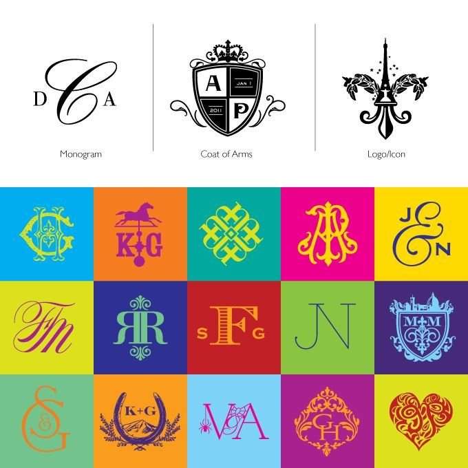 Monogram and Typography collectionAtelier Isabey, Luxury Wedding Invitations, Typography Collection, Fun Monograms, Graphics Design, Coat Of Arms, Fine Stationery